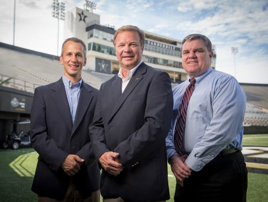 The Vanderbilt football broadcast team includes, from
