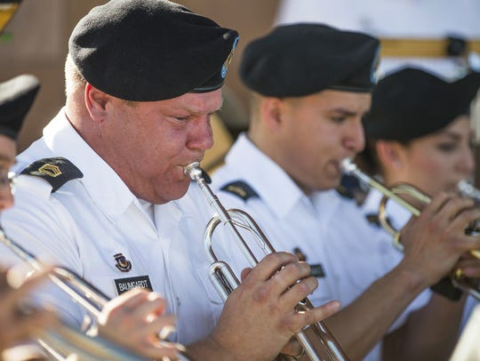 The 108th Army Band performs at the National Memorial