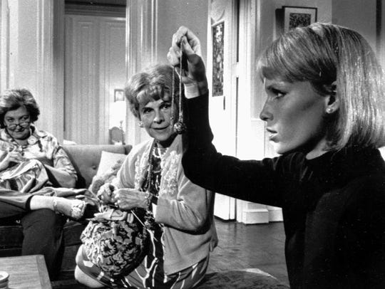 Mia Farrow, (right) Ruth Gordon (center) and Patsy