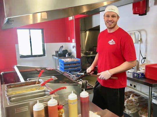 Matt Syroczynski owns Matt's Red Hots in San Carlos.
