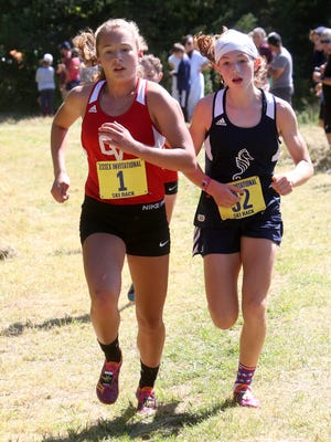 CVU's Ella Whitman, left, has been voted the girls Vermont Varsity Insider athlete of the week.