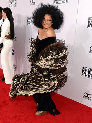 Diana Ross attends the 2014 American Music Awards.
