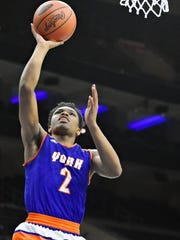 York High's Clovis Gallon Jr., shown here in a game last season, was nominated for the McDonald's All-American Game last week. On Thursday, he was not one of the 24 players selected for the prestigious game. DISPATCH FILE PHOTO
