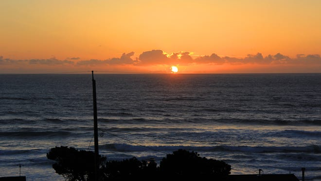 A sunset over Roads End State Recreation Site in Lincoln City.