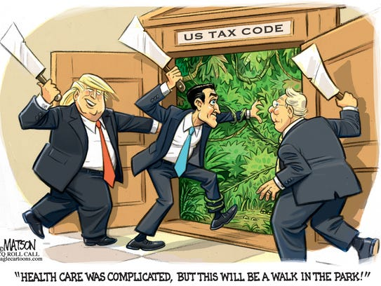 Taking a blade to tax reform.