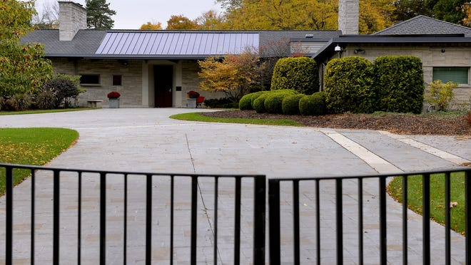 The Michigan governor's residence in Lansing on Oct. 22, 2014.