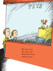 A page from 'What Pet Should I Get?' by Dr. Seuss.