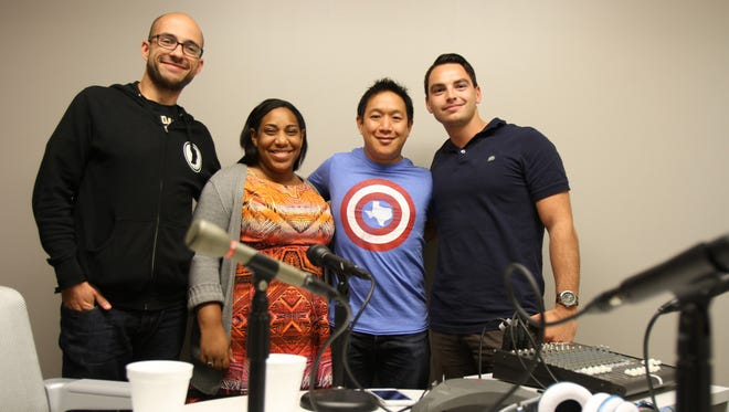 """""""Comic Book Men"""" star Ming Chen stops by the Asbury Park Press to tape an episode of the Fan Theory podcast. Alex Biese, Felecia Wellington Radel, and Al Mannarino have a conversation with Chen.Neptune, NJWednesday, September 23, 2015@dhoodhood"""