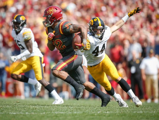 Iowa State sophomore running back David Montgomery