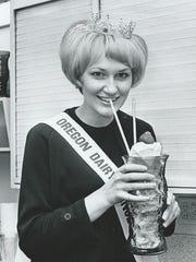 Oregon Dairy Princess Sue Kimball in 1968.