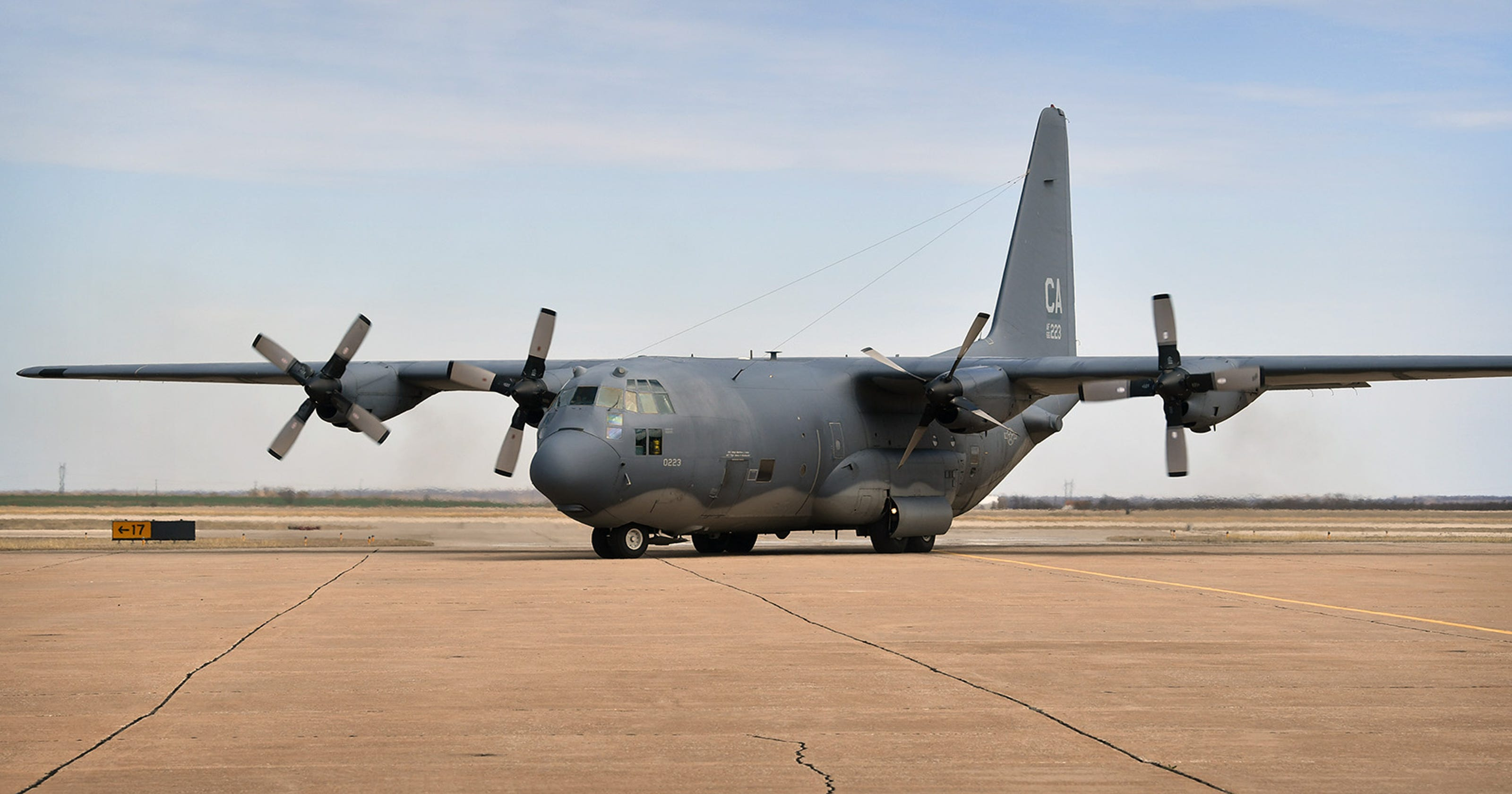 Iconic C-130 Made Final Flight From California To Sheppard AFB