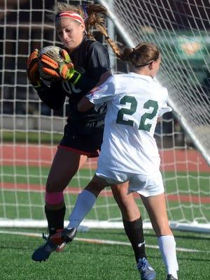 Senior goalie Sarah Deighan will be a key this season for Lakeland's defense.