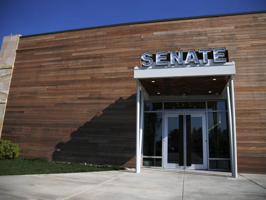 The front entrance of the new Senate restaurant.