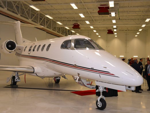 Embraer Executive Jets held a ceremony to deliver NetJets' 25th Embraer Phenom 300 executive jet. This jet was the 5th jet made in Melbourne for NetJet.