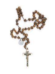 Saint Mother Theodore Guerin's chaplet, circa 1840, is on display at the Indiana Art Museum.