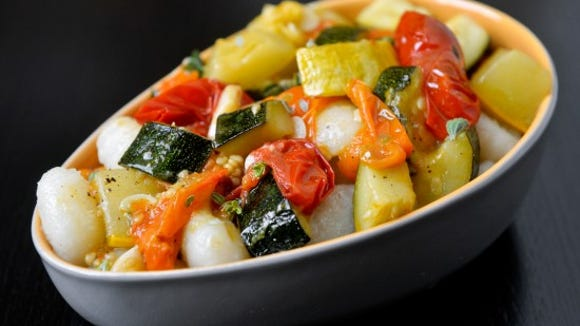 Roasted squash and tomato gnocchi. Photo by Chris Dunn.