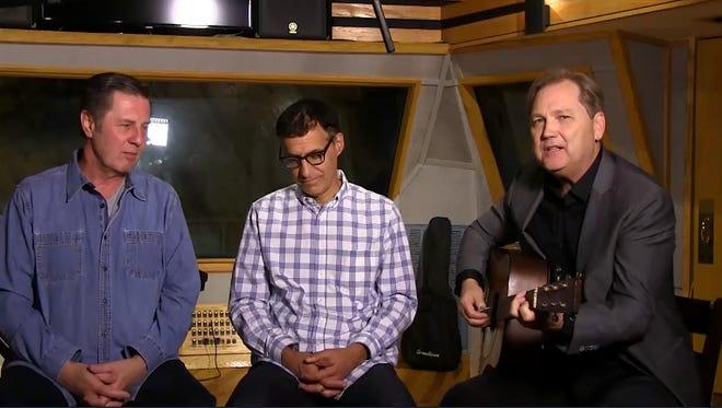 Bart Herbison, left, Billy Kirsch and Steve Wariner