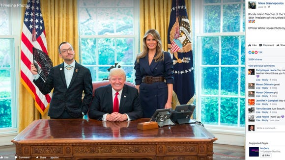 Nikos Giannopoulos' photo with President Trump and