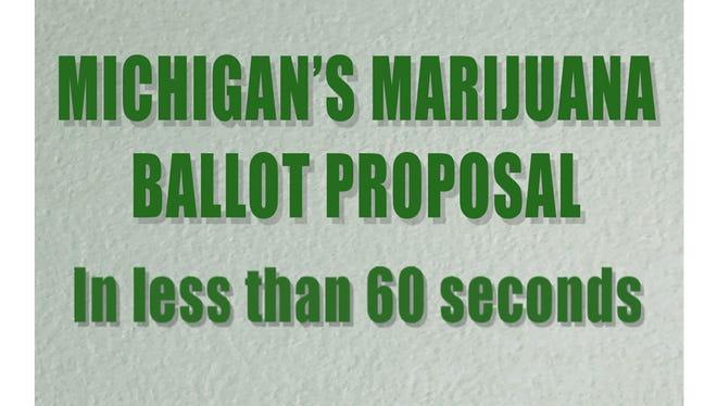 Michigan's marijuana ballot proposal in less than 60 seconds