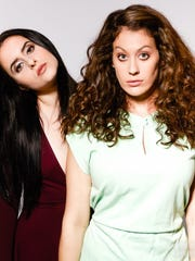 Krystyna Hutchinson and Corinne Fisher will record their podcast at the All Things Comedy Comedy Festival.
