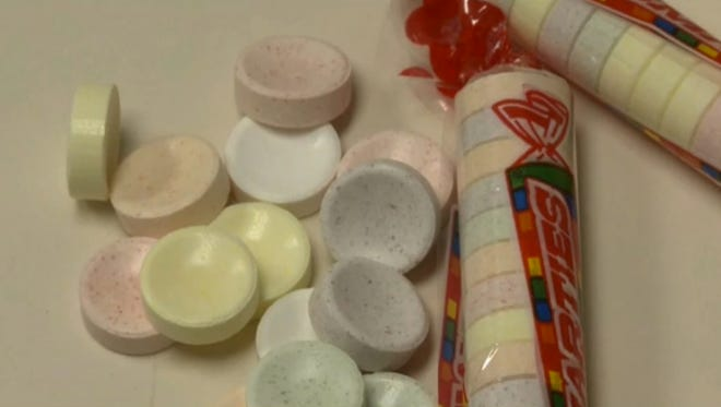 A couple of schools warn parents of the risks associated with students snorting up crushed-up Smarties.