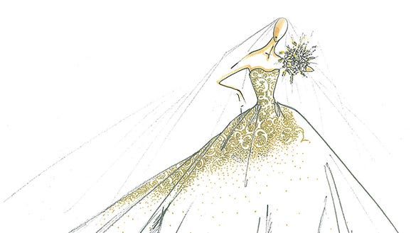 Jessica simpson wedding dress sketch first official photo jessica simpson dress junglespirit Choice Image