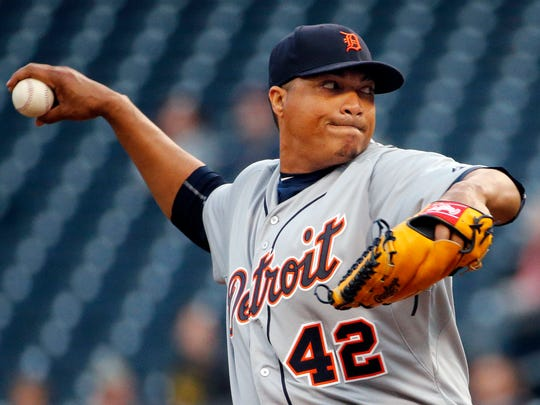 Alfredo Simon pitched eight innings of two-hit shutout ball against the Pirates on Wednesday night.