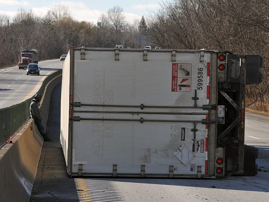 001-Westbound-lanes-of-U.S.-30-slowed-due-to-overturned-truck.JPG