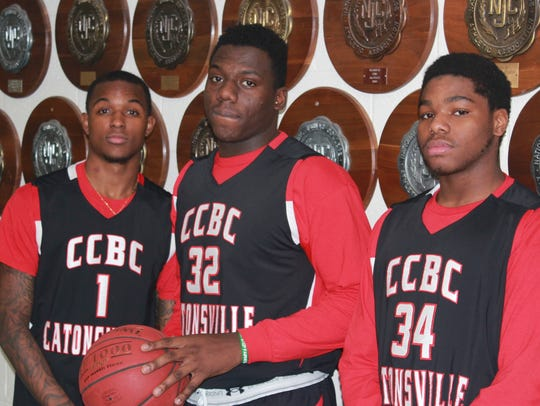 From left, Quinton Jackson, Tyler Hunter and Alex Cohen