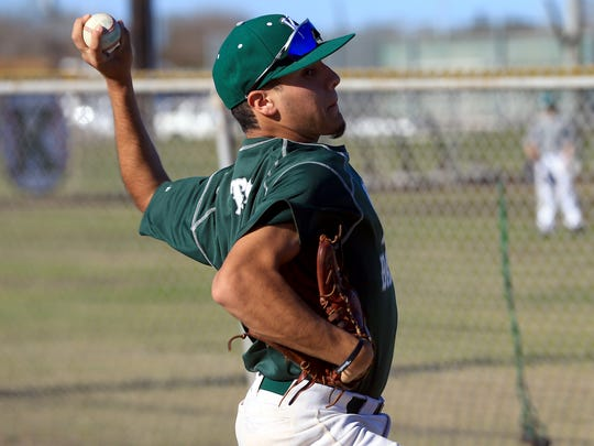 King's Abel Pena warms up during practice on Monday, Jan. 30, 2017, at King High School in Corpus Christi.