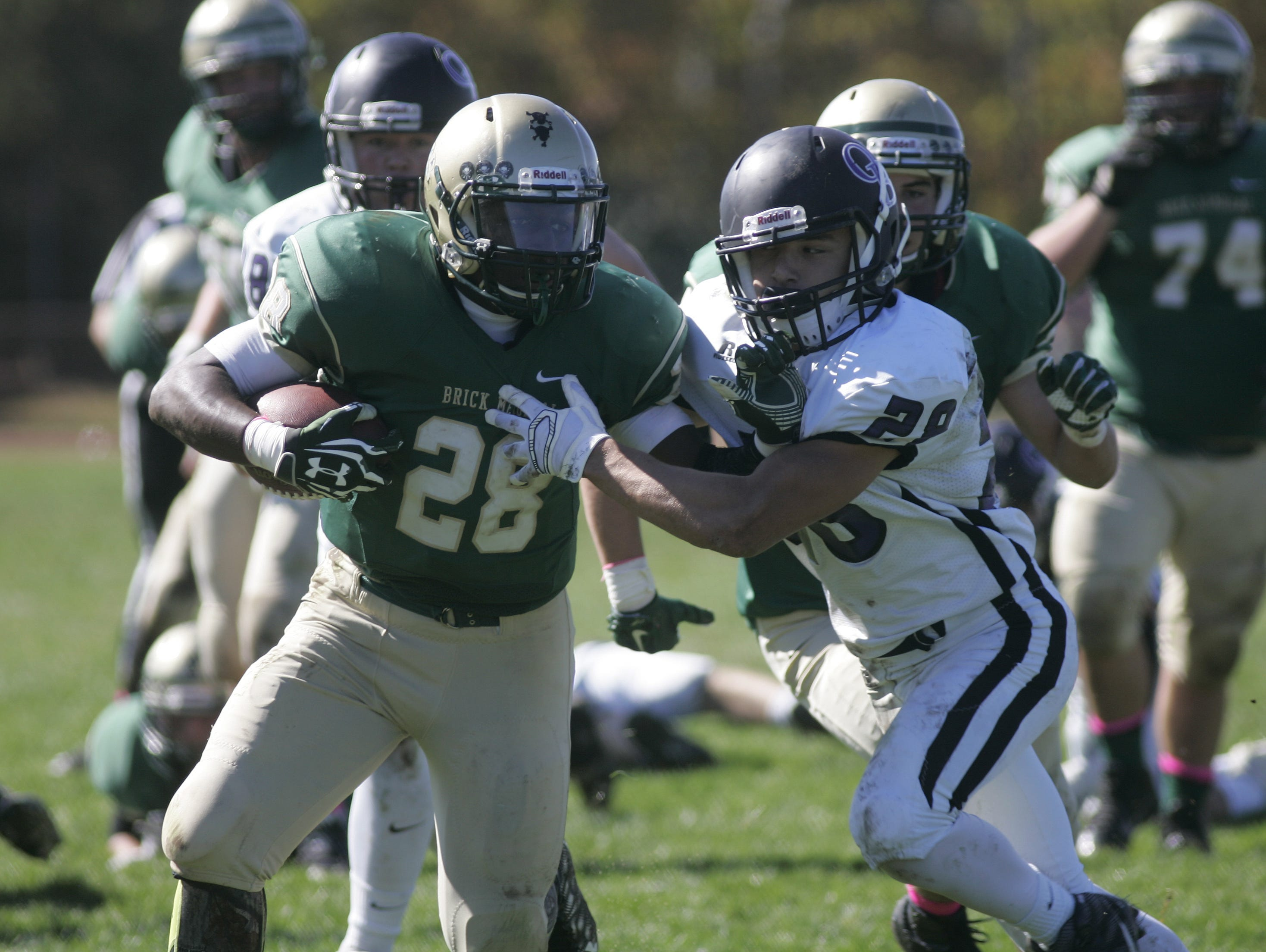 Brick Memorial sophomore running back Tony Thorpe will be a key player in the NJSIAA Central Group IV championship game.