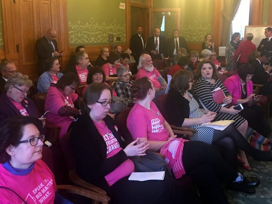 Supporters of Planned Parenthood, which opposed an