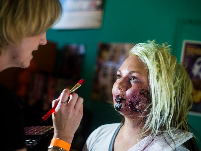 Corina Bange, of Littlestown, gets a zombie makeover