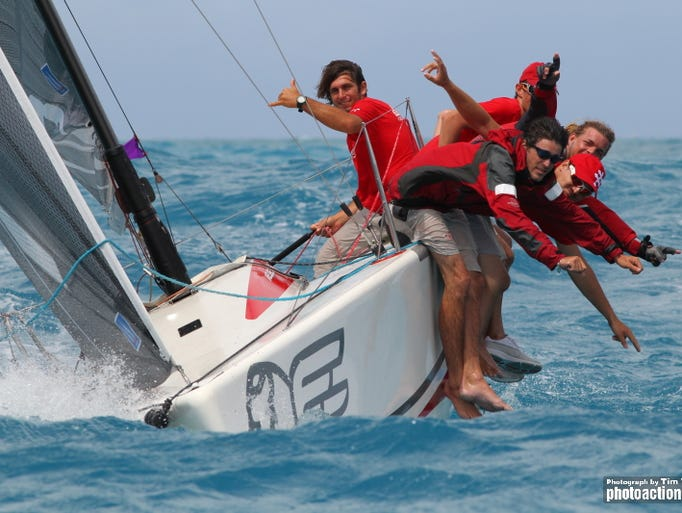 High season for boat racing in the Caribbean attracts