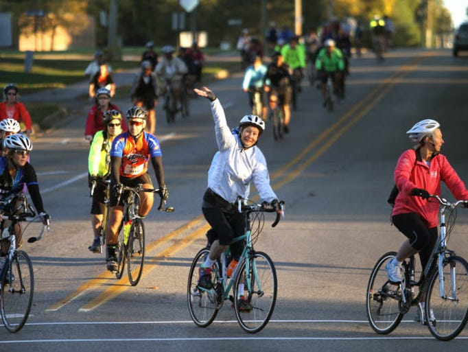 Hundreds of cyclists participate in the Howell Rotary Club's annual Tour de Livingston fundraiser. Event organizers estimate that more than 400 cyclists participated in the early start, with more than 800 total expected throughout the day.