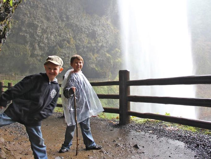 Best kid-friendly waterfall hikes near Salem. No. 1 — Silver Falls State Park.Rylan Peters, right, and Noah Peters, left, explore the caves behind South Falls.