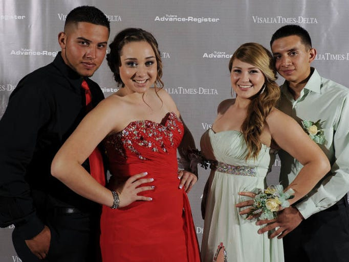 Tulare combined high schools prom at the Visalia Convention Center on Saturday, April 26, 2014.