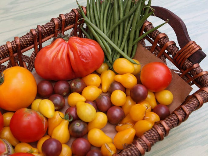 Tomatoes picked from the rooftop garden at Union Restaurant and Bar Latino in Haverstraw, Aug. 18, 2011.