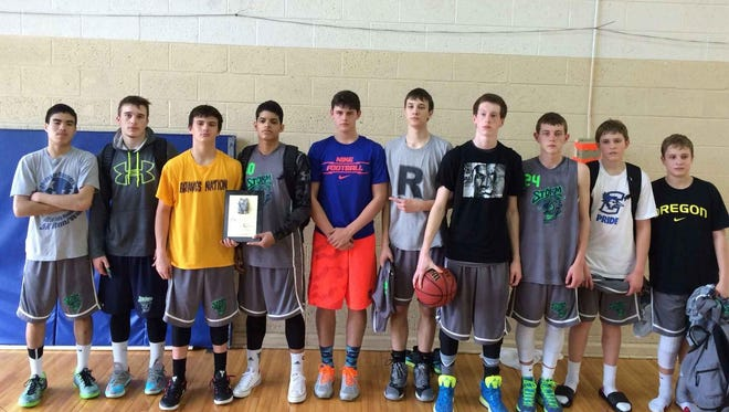 The Western North Carolina Storm ninth grade basketball team.