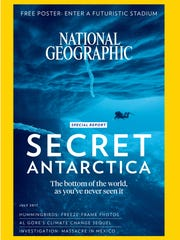 The July issue of National Geographic Magazine.