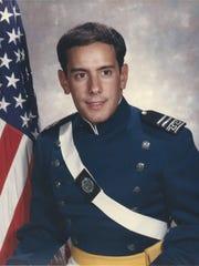 Col. Eric Mellinger as an Air Force Academy cadet