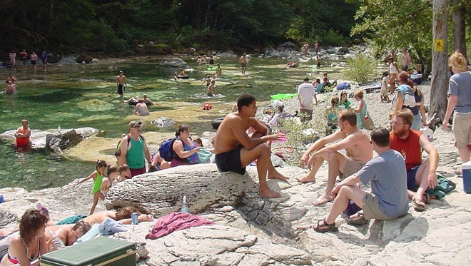 Three Pools Recreation Site, in the Opal Creek Scenic Area, has become crowded on summer days.