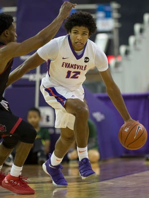 Evansville sophomore Dru Smith leads the Aces with 5.3 assists per game.