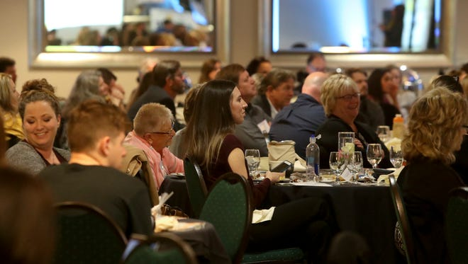 Tourism officials and community leaders listen during the Shasta-Cascade Tourism Summit on Wednesday at the Gaia Hotel in Anderson.