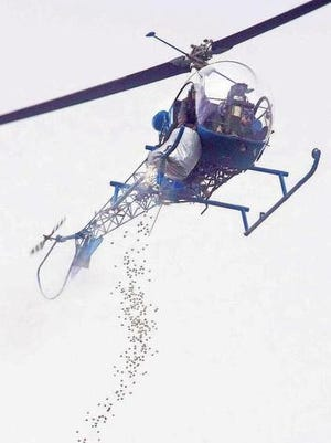 Whoop, whoop! means the Marshmallow Drop helicopter is ready to drop its load of gooey treats.