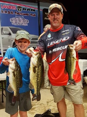 Mason and Ben McCormick won the Landers Cash Splash event recently on Cross Lake.