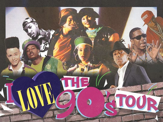 "The ""I Love the '90s Tour,"" featuring Salt-N-Pepa, Coolio, Tone Loc and others, will make a stop at the new Brandon Amphitheater on June 8, 2018."