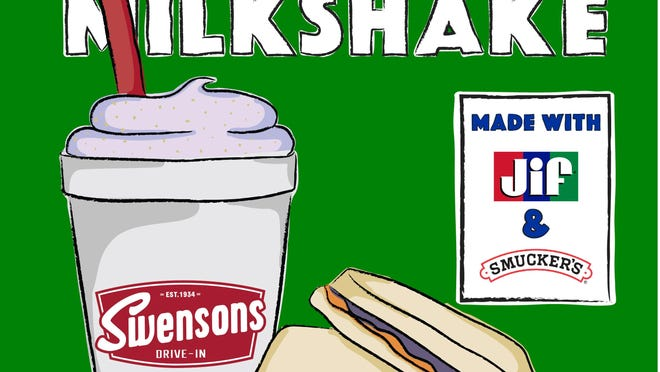 Swensons is offering PBJ shakes made with Smucker's grape gelly and Jif peanut buttter for a limited time.