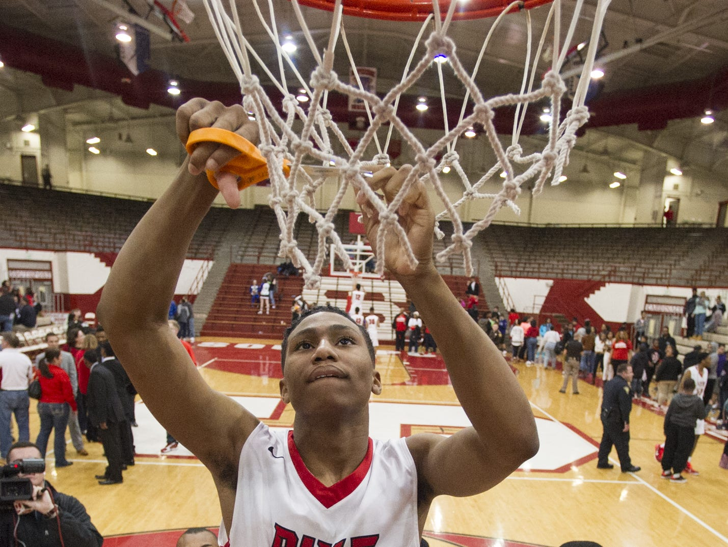 Pike cut down the nets in last year's Marion County tournament. Who will need the scissors this year?