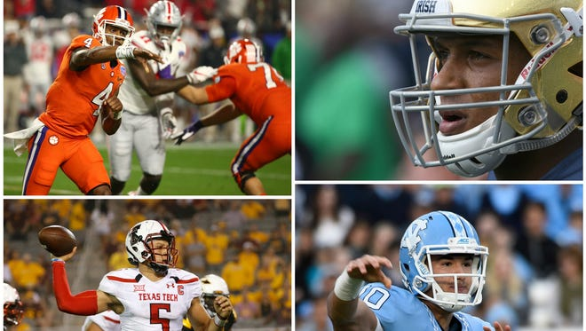 Deshaun Watson, DeShone Kizer, Mitchell Trubisky and Patrick Mahomes are among the top-rated QBs in the 2017 NFL draft.